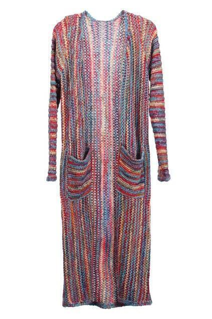 Multi-color Longline Cardigan