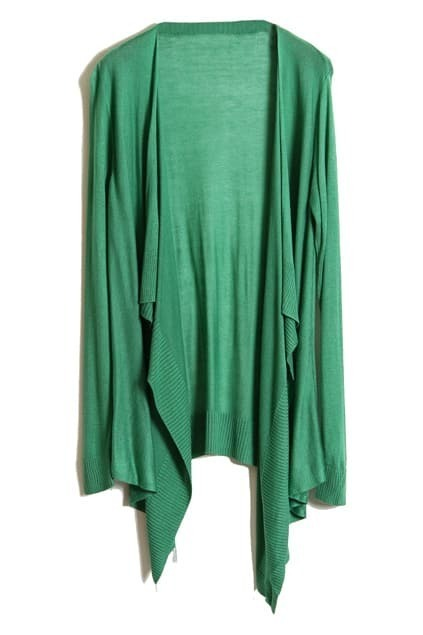 Brief Drape Green Cardigan
