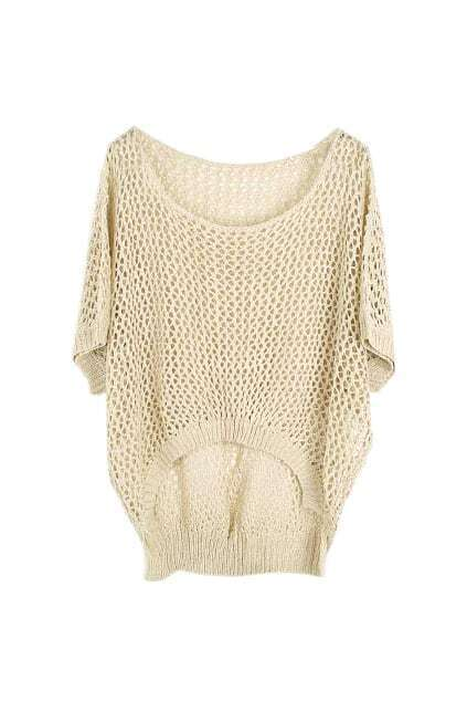 Hollow Oversized Apricot Jumper
