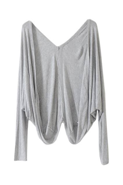 Batwing Style Grey Cardigan