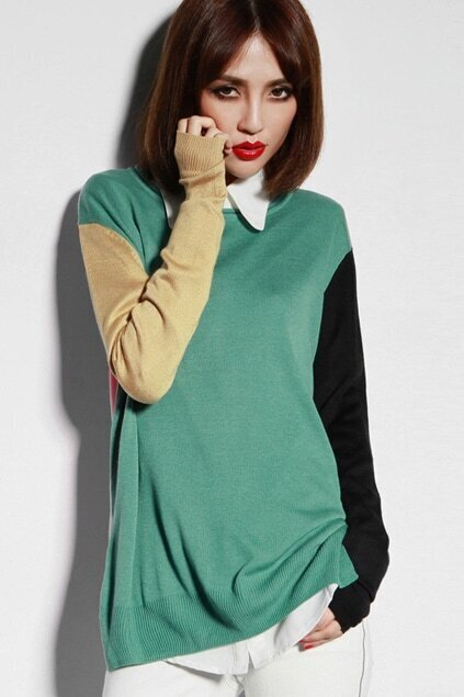 Multi Color Block Jumper