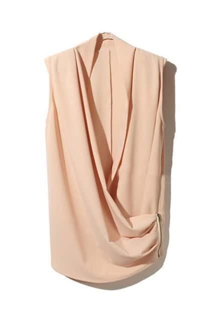 Zipper Hasp Vertical Bare Pink Cardigan