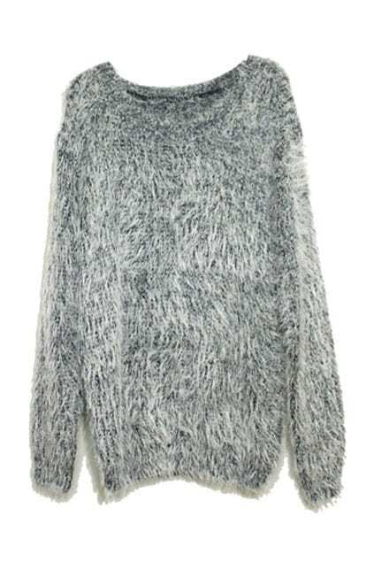 Oversized Grey Mohair Jumper