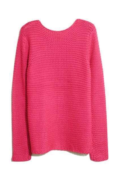 Rib Crochet Rose Jumper