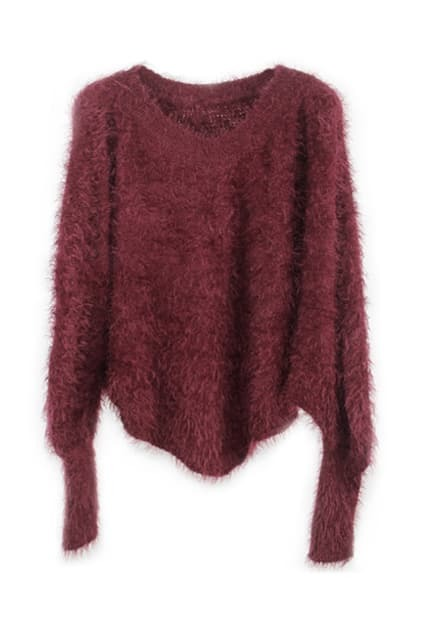 Retro Hairy Bat Styling Red Jumper