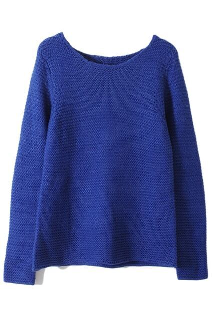 Chunky Knit Royalblue Jumper