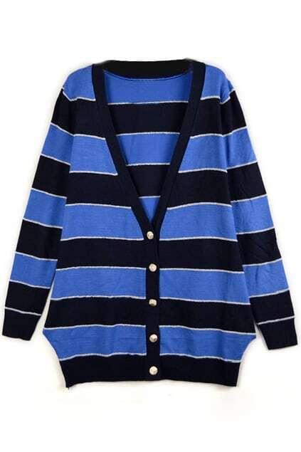 Naval Style Strips Cardigan