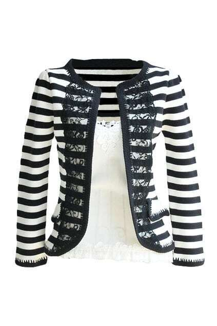 Black And White Strips Cardigan