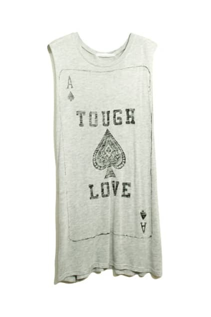 Retro Rinse Poker Print Grey T-shirt