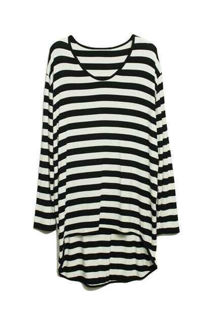 Anomalous Ocean Style Stripes T-Shirt