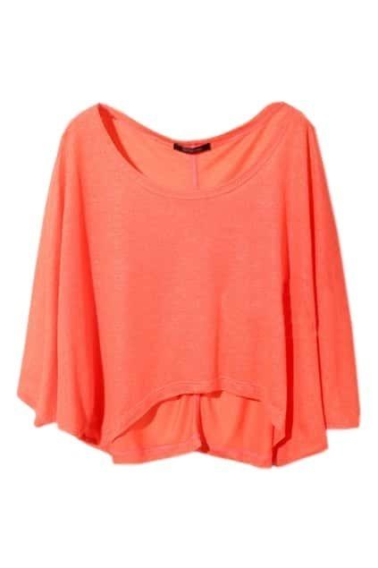 Metallic Orange Batwing Coat