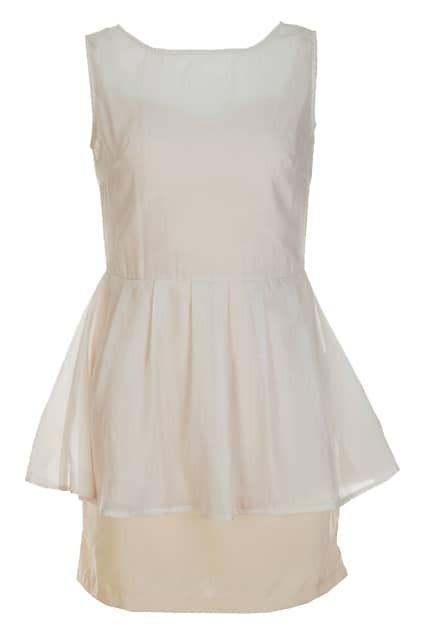 Montage Gauze Nude Dress