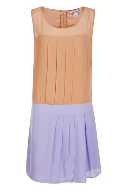 Sleeveless Pleats Purple Dress