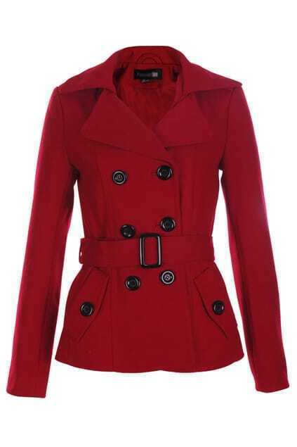 Bouble Breasted Red Coat