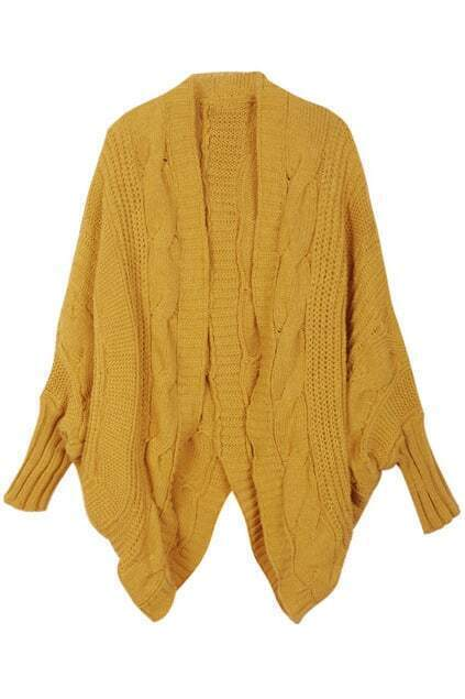 Oversized Chunky Knit Ginger Cardigan
