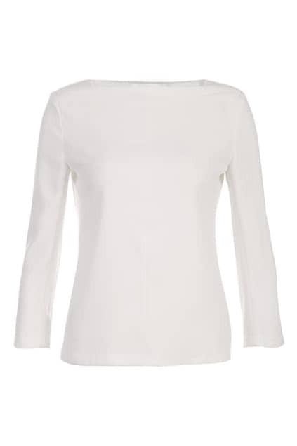 White Main Silk Look Top