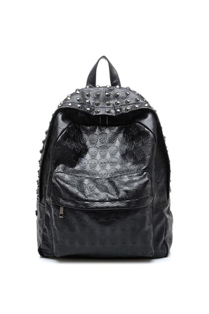 Skull And Rivets Backpack