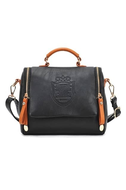 Retro Crown Black Bag