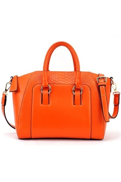 Brief Crocodile Orange Bag