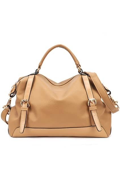 Brief Khaki Pin Buckle Bag