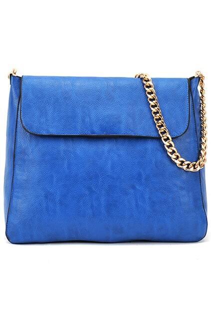 Upright Blue Chain Bag