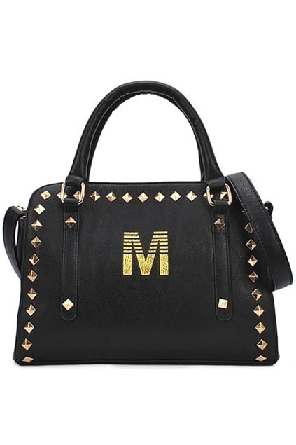 Rivets M Black Bag