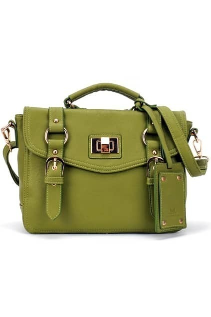 Green Brief-style Bag