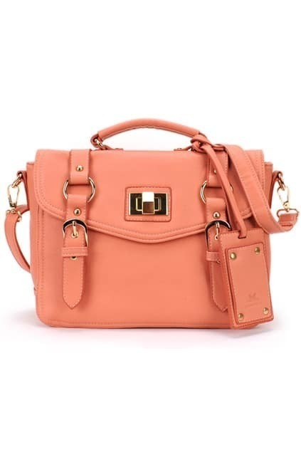 Pink Brief-style Bag