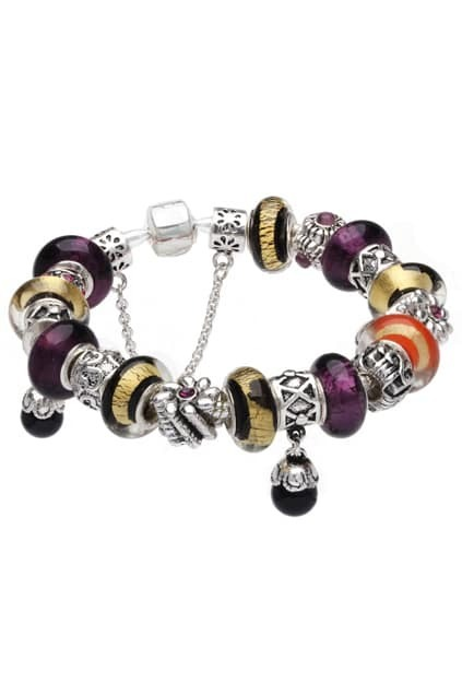 SOUFEEL Sterling Silver Palated Purple And Gold Bracelet