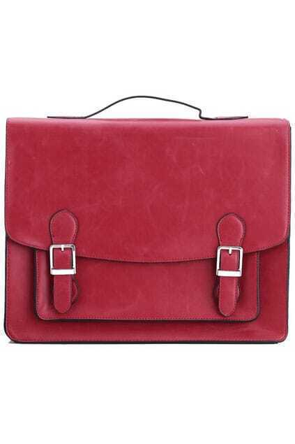 Fold Over Laptop Red Bag
