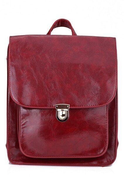 Fold Over Laptop Purplish Red Bag