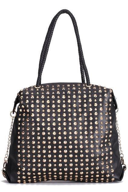 Multi Rivets Black Bag