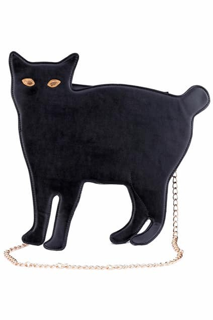 Cat-shaped Black Bag
