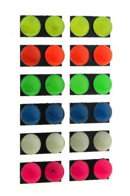 Roundness Fluorescence Color Stud Earrings