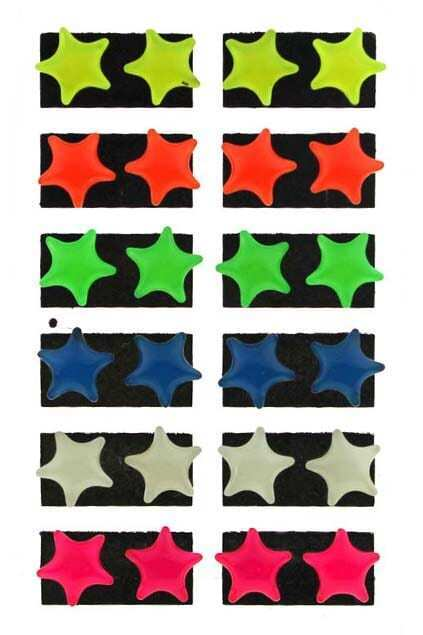 Five-pointed Star Fluorescence Color Stud Earrings
