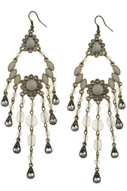 Fish-shaped Jewel Pendant Earrings