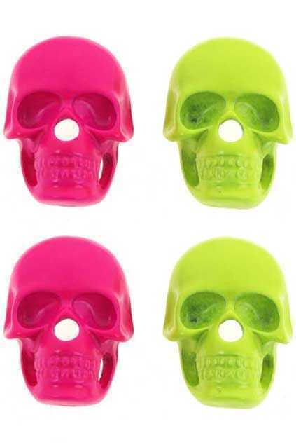 Skull Charm Stud Earrings