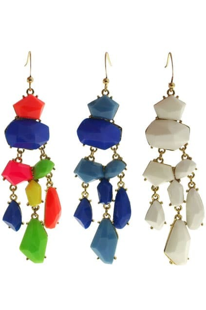Fish-shaped Jewel Pendant Earrings