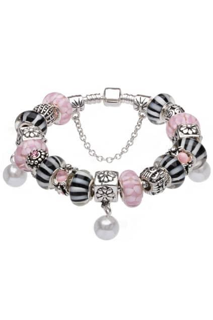 SOUFEEL Sterling Silver Pink Pearl Bracelet