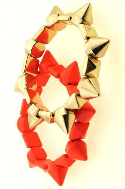 Rivets And Spikes Elastic Bracelet
