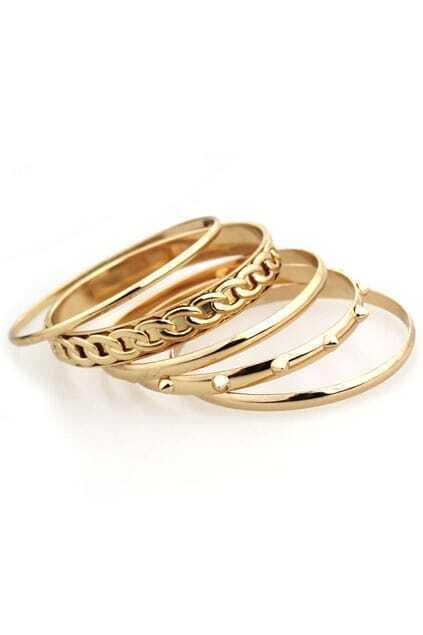Golden layered Round Bracelet