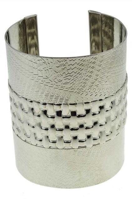 Silver Hollow Cylinder-shape Bracelet
