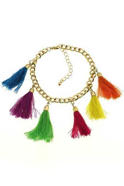 Colorful Rope Tassel Bracelet