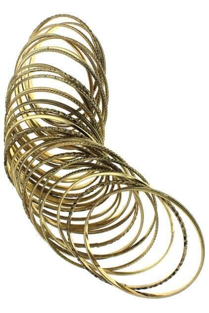 Golden Engraved Detailing Bracelet Pack