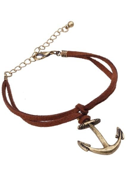 Copper Anchor Charm Bracelet