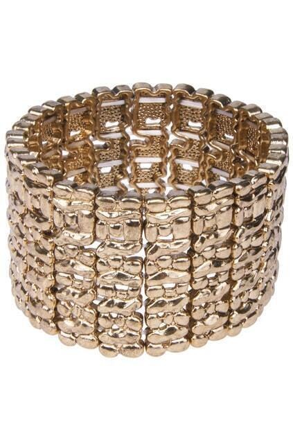 Net-shaped Elastic Cuff Bracelet