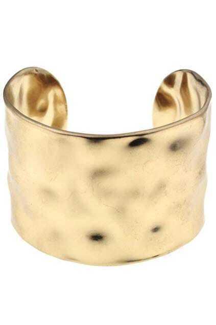 Chunky Golden Cuff Bracelet