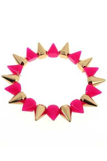 Colored Cone-shaped Bracelet