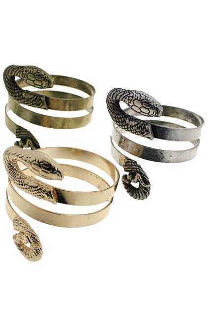 Spiralled Snake-shaped Bracelet