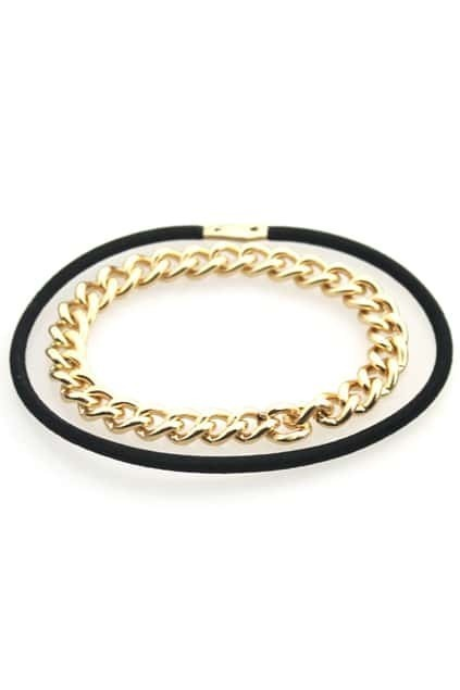 Golden And Black Chain Hairband